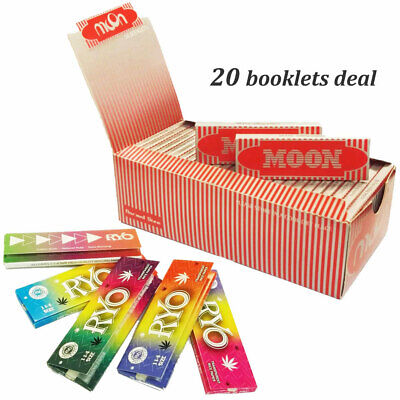 """Moon Red 1.0"""" 20 booklets 70*36mm Cigarette Rolling Papers Wood Papers & ONELOVE"""