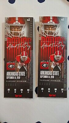 2 Georgia Bulldogs UGA vs. Arkansas State Football Tickets *Email Delivery* OBO