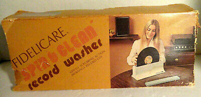 Vintage Fidelicare Spin An Clean Record Washer