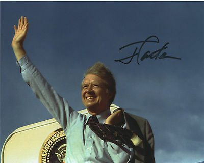 Jimmy Carter SIGNED 8x10 photo autograph auto President USA US