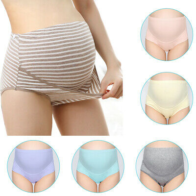 Women Maternity Pregnant Panties Modal High Waist Briefs Cotton Underwear Colors