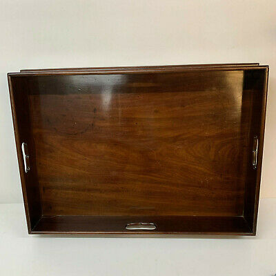 Antique  Mahogany butlers or drinks tray Victorian  Large