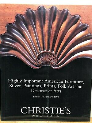 Christie's furniture, silver, folk art and decorative arts catalogs 1997 to 1998