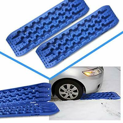 2pcs Recovery Traction Board Off Road Sand Track Truck Tire Snow Escaper Blue