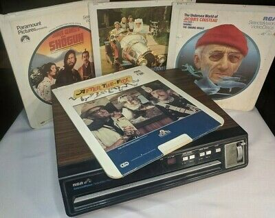 RCA SelectaVision VideoDisc CED Player SGT 100W w/ 4 Movies