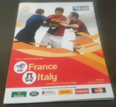 France v Italy Official Programme 2015 Rugby World Cup  *Mint Condition*