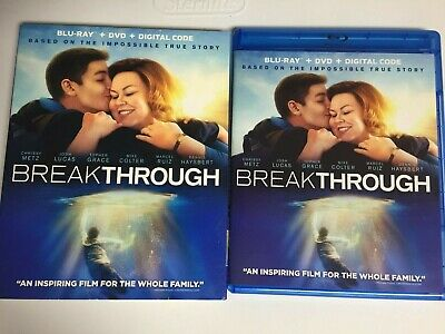 Breakthrough (Blu-ray,2019) Josh Lucas, Not a Scratch! USA!