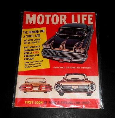 Motor Life Magazine May Issue 1958 In Plastic Sleeve Protector
