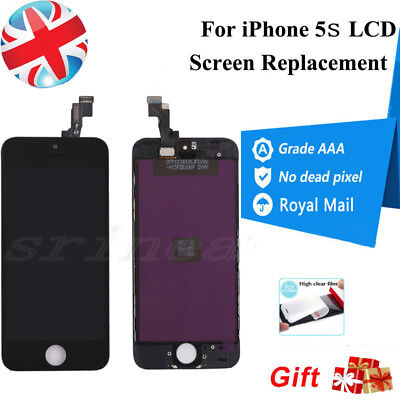 For iPhone 5S  LCD Screen Replacement Touch Display Digitizer Assembly Black