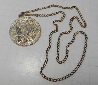 "Vintage Dunes Hotel & Casino Las Vegas, NV - 2"" Medallion with Chain"