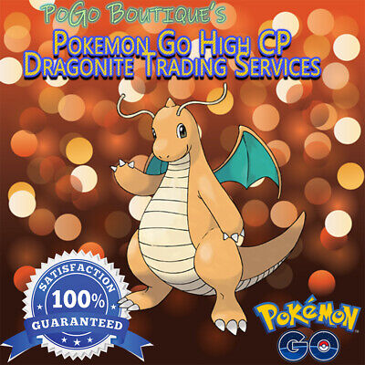 HIGH CP Pokemon Go Trade #149 Dragonite (BUY 2 GET 1 FREE) #1 Trusted Seller
