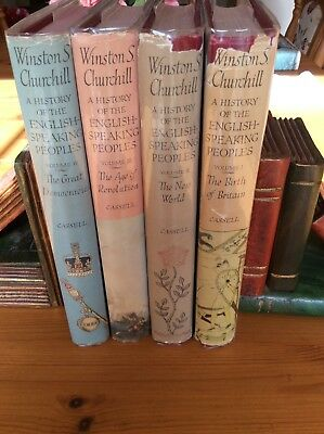 A History Of English Speaking Peoples. Winston Churchill. 4 Volumes.