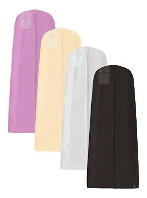 Hoesh Pack 5 Extra Large Wedding Bridal Clothes Dress Garment Bags Protector