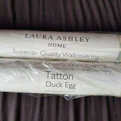 Laura Ashley Home Wallpaper Tatton Duck Egg Two Rolls damask traditional floral