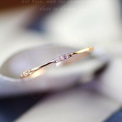 14k gold Tiny Diamond Pieces of Exquisite Small Fresh woman Engagement Ring HOT