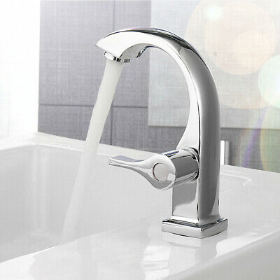 Chrome Silver Bathroom Faucet Sink Single Handle Home Kitchen Cold Water Faucet