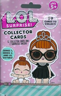 LOL surprise series 1 & 2 collector trading cards 1 single packet