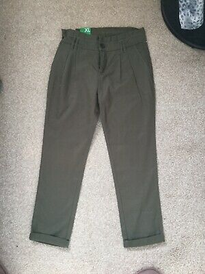 United Colours Of Benetton Girls Khaki Trousers 10-11years Bnwt