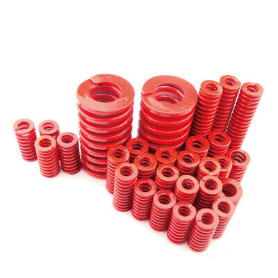 Medium Load Die Mold Spring OD 8mm-40mm TM Red ID 4mm-20mm For Hardware Assembly