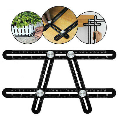 Upgraded Aluminum Alloy Measuring Tools Multi-angle Template Four-sided Ruler
