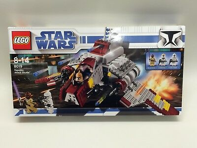 New Sealed LEGO Star Wars 8019 Republic Attack Shuttle Discontinued Rare MINT
