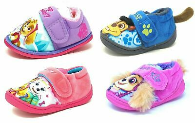 Kids/Childrens Paw Patrol Pink Blue Booties Girls Boys Slippers Mules Size 5-10