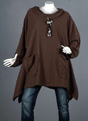 45 PREMIUM Pullover Tunika Longpullover A-Linie Top Bluse Shirt Wolle XL 48 50