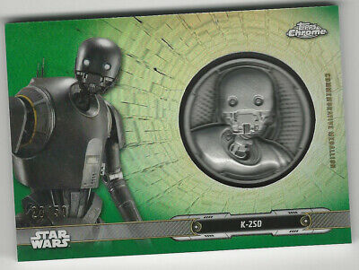 K-2SO 2019 Topps Star Wars Chrome Legacy Medallion Relic Card Green 28/50