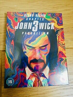 John Wick Chapter 3 Parabellum 4K UHD + Blu Ray & Continental Coin/Business Card