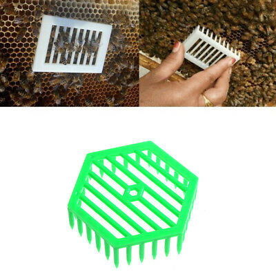 1PC Plastic Green Queen Marker Cage Clip Bee Catcher Beekeeping ToolsES