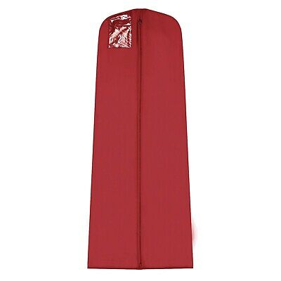 """Hoesh 72"""" Burgundy Bridal Dress Cover Wedding Gown Garment Clothes Protector Bag"""