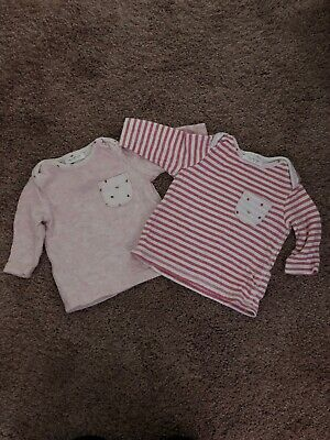 Next Baby Girl Long Sleeved Tops Pink Age 0-3 Months