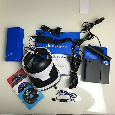 Playstation 4 VR Virtual Reality + Camera + 3 Games + In Ear Stereo Headphone