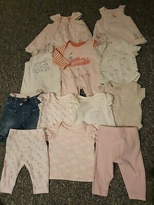 Girls Mothercare New Baby And Tiny Baby Bundle, Immaculate Condition