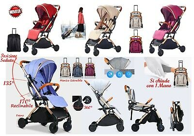 Stroller Compact Light Children Infants Folding Si Closes with 1 Hand
