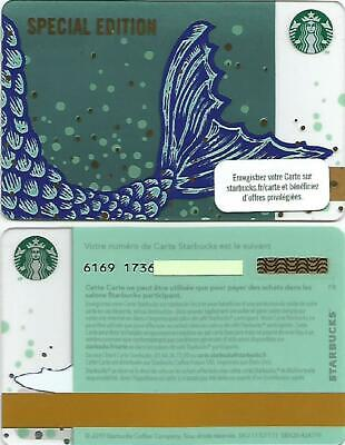 """FRANCE  Starbucks card  NEW """" Mermaid / Special Edition """" 2019 - EXCELLENT"""