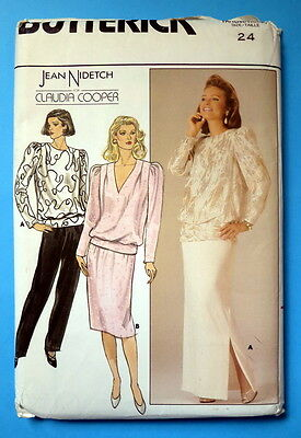 Bilingual Butterick pattern 3585 from 1985