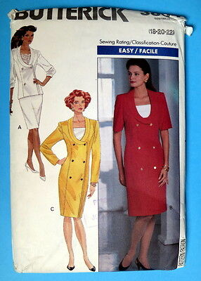 Bilingual Butterick pattern 3804 from 1989