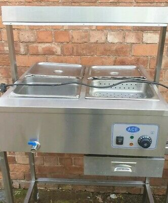 Ace 4 Pot Wet Well Heated Carvery Unit