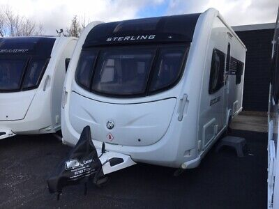 SALE!-2012 Sterling Eccles Solitaire - 4 berth caravan, fixed single beds, mover