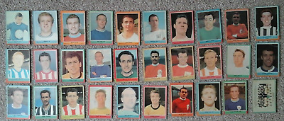 A.& B.c.gum 1964 Footballers Quiz (59-103) 30 Cards Out Of 45