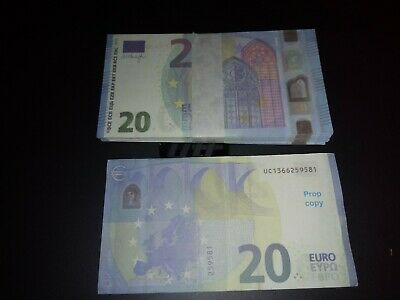 Billet 20  Euro Film Clip money Movie X20 lot de 20 ideal video petit film etc.