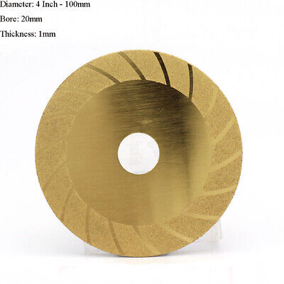 4'' 100mm Diamond Cutting Disc Blade Grinding Wheel Glass Metal Stone Porcelain