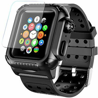 Apple Watch Series 3 4 5 Case 38 42 44 mm Waterproof Premium Soft Silicone Band