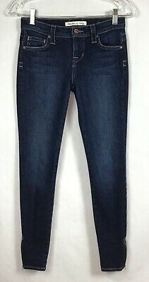 Freedom of Choice Jeans Sz 0 Skinny Stretch Denim Ankle Zip Anthropologie A2-13