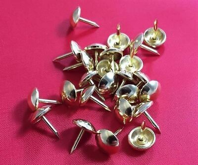 Decorative Upholstery Craft Nails Studs Tacks Pins Brass Plated Gold Qty 5000