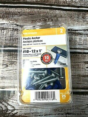 Hillman PHP SMS Blue Conical Plastic Anchor 41404 New Free Fast Shipping!