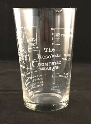 Vintage Glass Measure The Resolute Domestic Measure Imperial