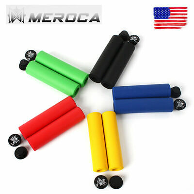 Plug V7O1 2 Pcs MTB Bicycle Bike Tube Sponge Foam Rubber Handlebar Grips Cover