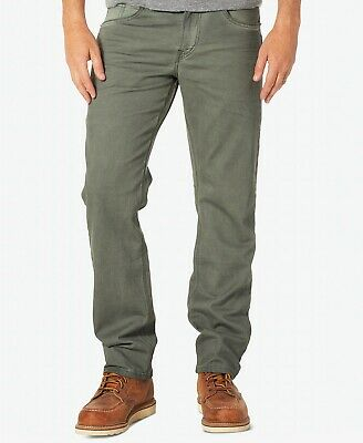 $195 Silver Jeans Co. Men'S 36w 32l Green Jeans Relaxed Tapered Fit Denim Pants